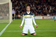 """Fernando """"El Niño"""" Torres puts Chelsea in the Champions League Final. Miss seeing him in Red."""