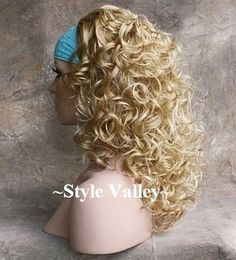 Blonde Mix Fall Hairpiece Curly Medium Length Half Wig Hair Piece, I want my hair to curl like this Beauty Tips, Beauty Hacks, Hair Beauty, Hair Dos, Your Hair, Hairpieces For Women, Medium Curly, Half Wigs, Curly Wigs