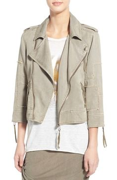 Pam & Gela Patch Twill Moto Jacket available at #Nordstrom