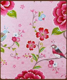 pip studio behang birds in paradise roze 313010
