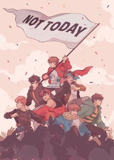 JUST BTS NOT TODAY