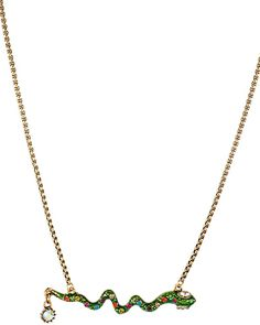 ST BARTS SNAKE NECKLACE GREEN accessories jewelry necklaces fashion
