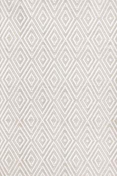 6x9 $298 Dash and Albert Rugs Diamond Platinum/White Rug
