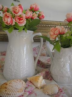 I love unusual containers like pitchers as vases.