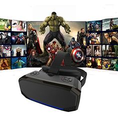 3D VR All in One Virtual Reality for Youtube Google Play WiFi 2.4G Bluetooth for Movie and Games 1080P 360 Viewing Immersive All in One and NO PHONE NEEDED Speed-yy