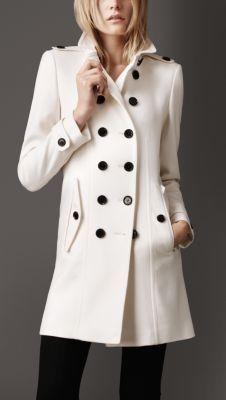 White Military Coat