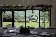 Hanging foliage at the Lookout Lodge www.wanakaweddingflowers.co.nz/ Unique Flowers, Wedding Flowers, Wedding Venues, Bouquet, Bloom, Design, Wedding Reception Venues, Wedding Places, Bouquets