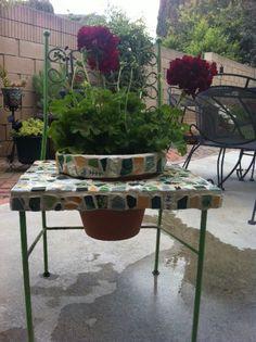 Patio chair planter