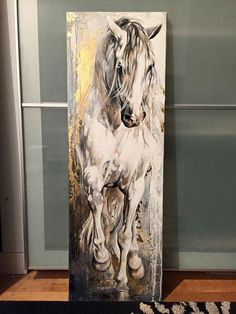 Wouldn't this look too cool painted on the cutting board in the kitchen. I'm going to ask Carly if she will paint this on there for you. Horse Artwork, Horse Wall Art, Horse Drawings, Art Drawings, Animal Paintings, Horse Paintings, Pastel Paintings, Equine Art, Acrylic Art