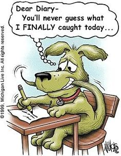 Need a laugh or a smile? Read on and see how cartoon jokes humor can brighten your day. Dog Jokes, Cartoon Jokes, Animal Jokes, Cartoon Dog, Funny Cartoons, Funny Animals, Dog Humor, Animal Funnies, Animal Antics