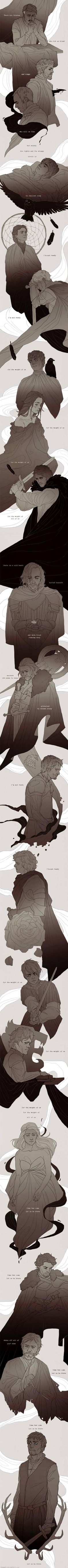 A Song of Ice and Fire. - Imgur with lyrics from the song the Weight of Us by Sanders Bohlke