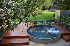 29 Small Plunge Pools to Suit Any Sized Backyard (and Budget) Small Backyard Pools, Small Pools, Backyard Landscaping, Indoor Pools, Pool Decks, Landscaping Ideas, Mini Piscina, Piscine Simple, Kleiner Pool Design
