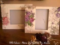 DIY Ideas - Home and Garden by Maria: Decoupage - Ντεκουπάζ σε Καδράκια.