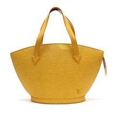 Louis Vuitton Saint Jacques Epi Handle bags Yellow Leather M52279
