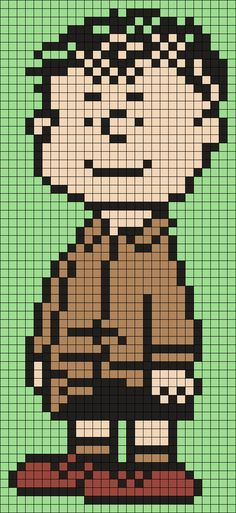 Shermy From Snoopy And The Peanuts Gang (Square) Perler Bead Pattern / Bead Sprite