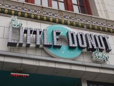The Little Donut Shop - Cool Neon/Bulb Sign Donut Shop, Shop Signs, Donuts, Signage, Bulb, Neon, Cool Stuff, Projects, Shopping