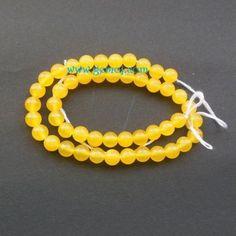 Agate round beads - gemstone bead - full strand $10.50 #agatebeads  #fullstrand  #roundbeads  #gemstonebead  #supplies  #yellowbead  #6mmround