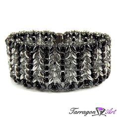 Bransoletka Beaded Elegance - Silver & Black | Tarragon Art - stylowa biżuteria artystyczna
