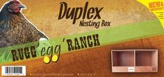 """Rugged Ranch Products DUPLEX Nesting Box for Chicken, 12 by 12 by 12-Inch by Rugged Ranch Products. $28.87. Constructed with 3/8"""" plywood. Quick and Easy 10 minute Assembly. 0. Available in 5 sizes. Our handcrafted Nesting Boxes are available in 5 sizes to suit each different type of poultry. The Duplex Nesting Box measures 24' x 12' x 12""""."""