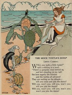 The Mock Turtles Song_1 by katinthecupboard, via Flickr