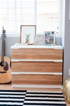temporarily transform your dresser, diy, home office, painted furniture, woodworking projects