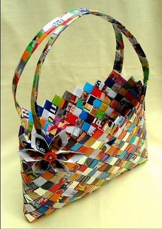Esselle Crafts: Candy Wrapper Bag