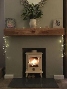 Excellent Cost-Free Fireplace Hearth black Tips New woodburner Cosy Living Room, Living Room With Fireplace, Living Room Designs, Home Living Room, Living Room Color, Log Burner Living Room, Empty Fireplace Ideas, Cottage Living Rooms, Room Decor