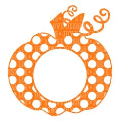 Monogram Polka Dot Pumpkin SVG and DXF Digital Download Ideal for use with craft cutting machines. Note that if you are using a silhouette and do