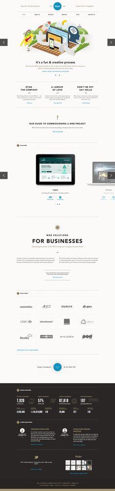 Unique Web Design, Kyan #WebDesign #Design (http://www.pinterest.com/aldenchong/)