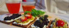 Briciole di Sapori           : Fette di pane di semi di lino tostate e farcite