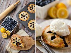 Mini Blueberry & Meyer Lemon Cream Pies ~ Page 2 of 2 ~ Krafted Koch Mini Desserts, Cookie Desserts, Delicious Desserts, Yummy Food, Mini Pie Recipes, Cheesecake Recipes, Quick Recipes, Mini Blueberry Pies, Blueberry Desserts