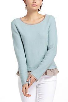 Ruffled Duster Sweater