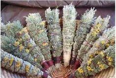 Dried Herb Bundles | arrange bundles of dried herbs as a display that smells good