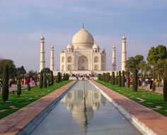 The stunning Taj Mahal was built by Mughal Emperor Shah Jahan in memory of his third wife Mumtaz Mahal.