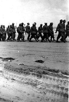 German POWs, Omaha Beach.