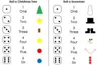 Roll and Tree and Roll a Snowman printable
