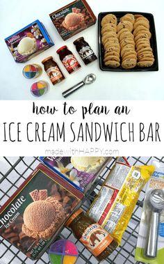How to Plan an Ice Cream Sandwich Bar Party #SundaeFundae #client