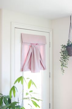 Dani Designs Co | Easy Install Curtain with no holes or damage | Easy Entryway and home remodel | Dusty Rose French Door Curtain