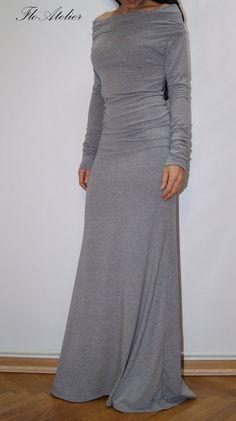 Long Sleeve Maxi Dress/Casual Evening Elegant Dress/ Sexy