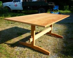 Craft trestle table by goodllamatina on Etsy