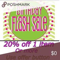 BIRTHDAY FLASH SALE Birthday one day sale. 20% off 1 or more items UGG Shoes