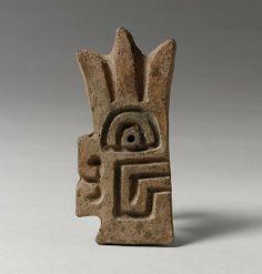 Flat Stamp Date: 7th–2nd century BCE Geography: Peru Culture: Chavin Medium: Ceramic Dimensions: Height 3-1/4 in.
