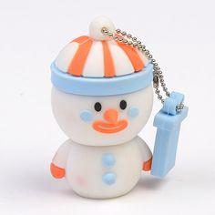 3D USB stick sneeuwpop » Uw eigen ontworpen 3D usb stick al vanaf 100 stuks leverbaar.