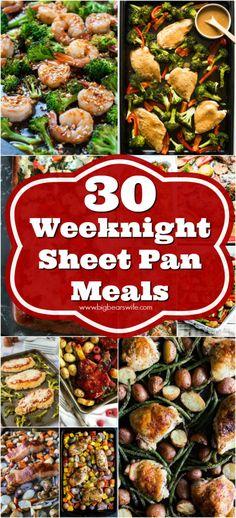Weeknight Sheet Pan Meals  | Big Bear's Wife
