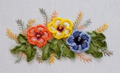 Wonderful Ribbon Embroidery Flowers by Hand Ideas. Enchanting Ribbon Embroidery Flowers by Hand Ideas. Brazilian Embroidery Stitches, Types Of Embroidery, Japanese Embroidery, Learn Embroidery, Silk Ribbon Embroidery, Hand Embroidery Patterns, Fabric Patterns, Embroidery Supplies, Embroidery Kits
