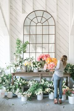 How to DIY your own spring centerpiece: http://www.stylemepretty.com/living/2016/03/24/think-you-cant-make-your-own-spring-centerpiece-think-again/ | Photography: Matthew Land Studios - http://www.matthewland.com/