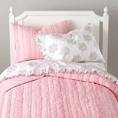 The Land of Nod | Girls Bedding: Delicate Pink Bedding Set in Girl Bedding