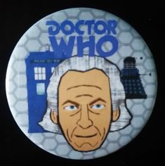 Doctor Who. Custom 38mm Pin Badge of the First Doctor.