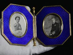 King George VI and Queen Elizabeth in a photo frame by Peter Carl Faberge