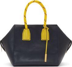 Stella McCartney - Navy Faux-Leather Cavendish Boston Bag